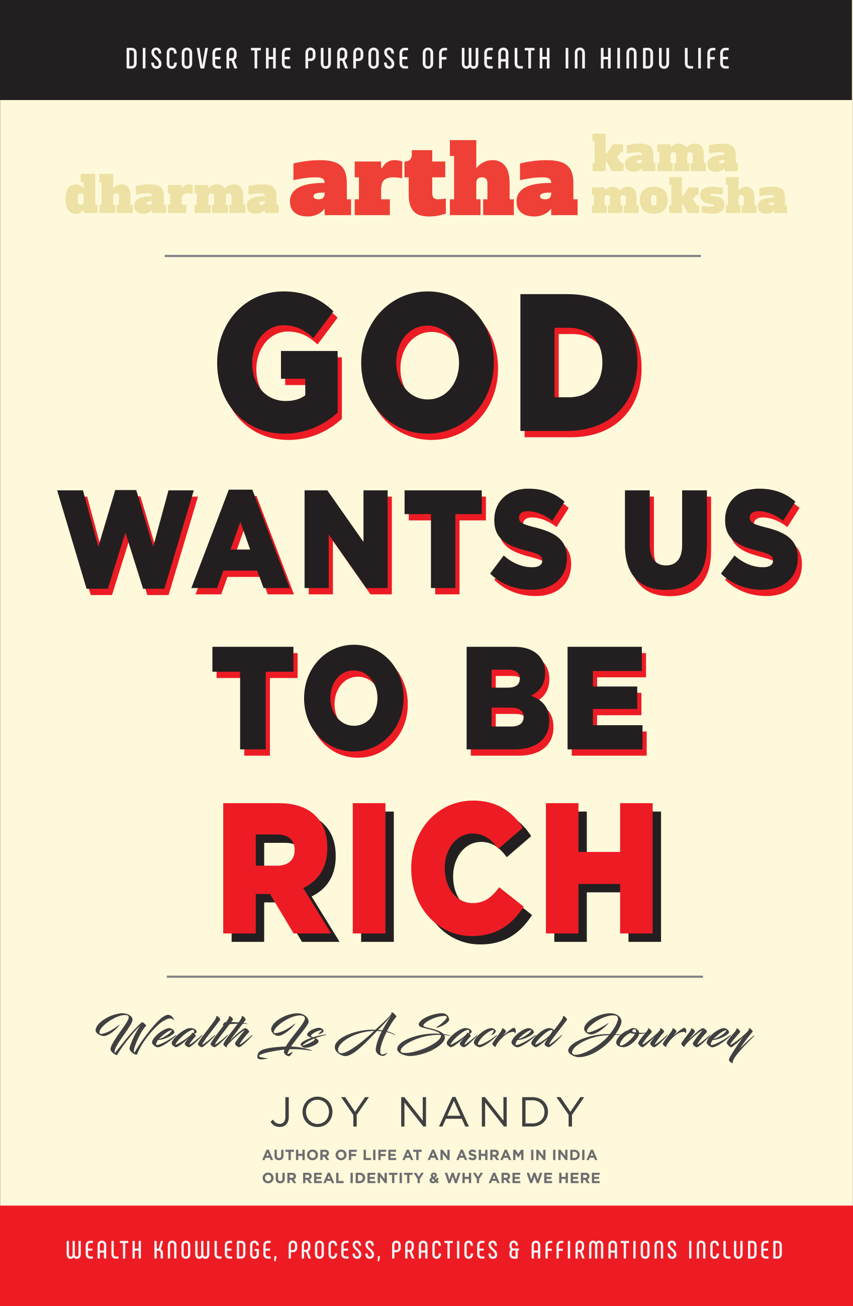 ARTHA - GOD WANTS US TO BE RICH by Joy Nandy - Front Cover